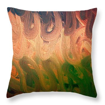 Emotion Acrylic Abstract Throw Pillow