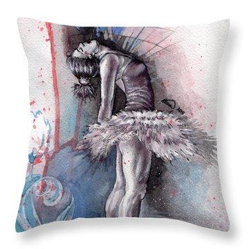 Emotional Ballet Dance Throw Pillow