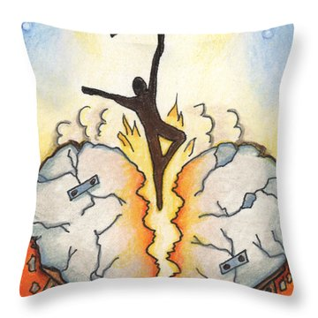 Emotional Rescue Throw Pillow by Amy S Turner