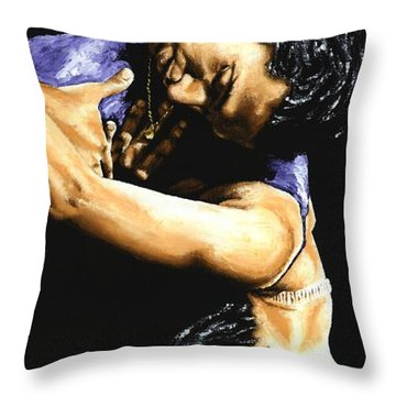 Emotional Tango Throw Pillow by Richard Young