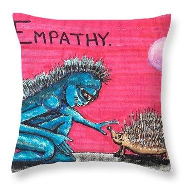 Empathetic Alien Throw Pillow