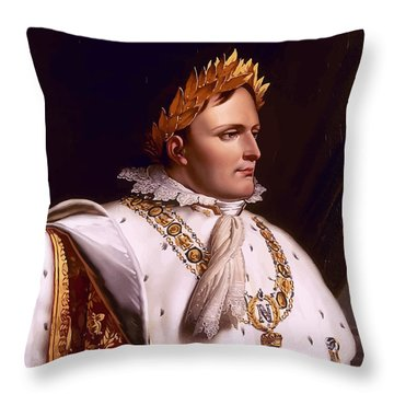 Emperor Napoleon Bonaparte  Throw Pillow by War Is Hell Store