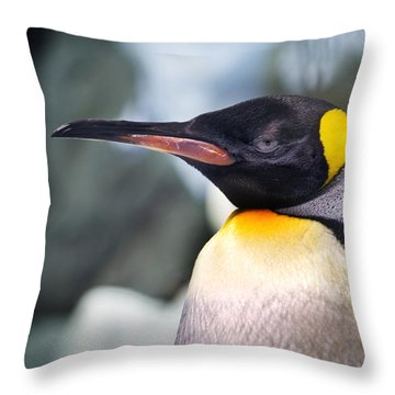Emperor Penguin Throw Pillow