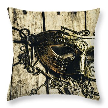 Emperors Keys Throw Pillow