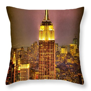 Empire Light Throw Pillow by Chris Lord