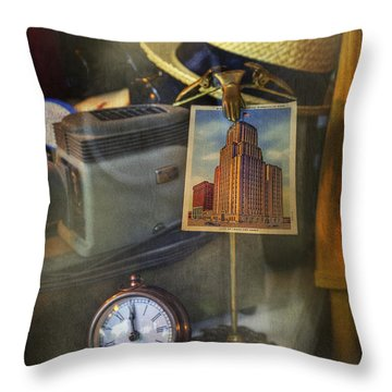 Throw Pillow featuring the photograph Empire Memo's by Craig J Satterlee