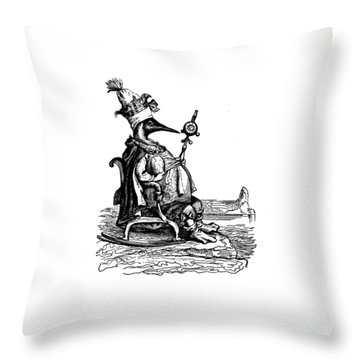 Empire Penguin Grandville Transparent Background Throw Pillow