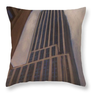 Empire State Building 1 Throw Pillow by Anita Burgermeister