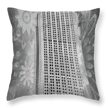 Throw Pillow featuring the photograph Empire State Building by Angie Tirado