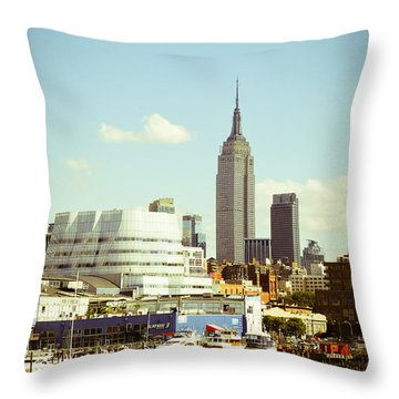 Empire State Building From Hudson Throw Pillow