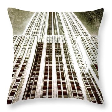 Empire State Building Throw Pillow