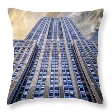 Empire State Building  Throw Pillow by John Farnan
