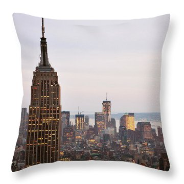 Empire State Building No.2 Throw Pillow by Zawhaus Photography