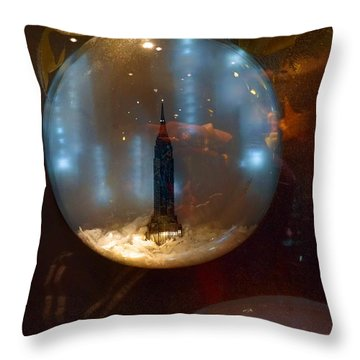 Empire State Christmas Throw Pillow