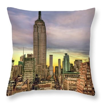 Empire State Of Mind Throw Pillow by Evelina Kremsdorf