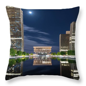 Empire State Plaza Throw Pillow