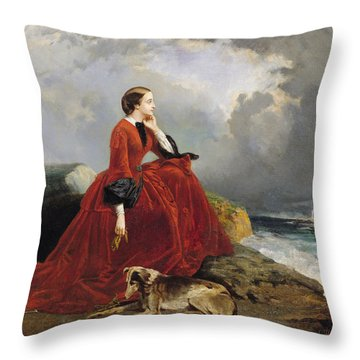 Empress Eugenie Throw Pillow by E Defonds