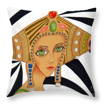 Empress Exotica -- Whimsical Exotic Woman Throw Pillow
