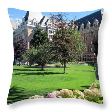 Empress Hotel Throw Pillow by Betty Buller Whitehead