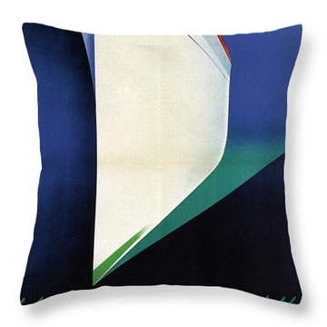 Empress Of Britain - Canadian Pacific - Steamship - Retro Travel Poster - Vintage Poster Throw Pillow