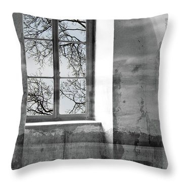 Throw Pillow featuring the photograph Emptiness by Munir Alawi