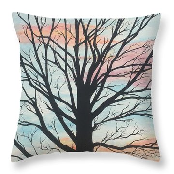 Empty Beauty Throw Pillow