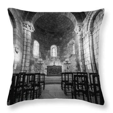 Empty Chapel Throw Pillow