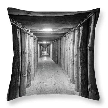 Empty Corridor Throw Pillow