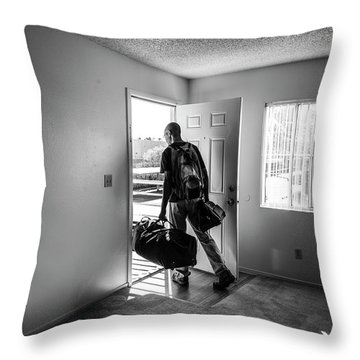 Throw Pillow featuring the photograph Empty by Eric Christopher Jackson