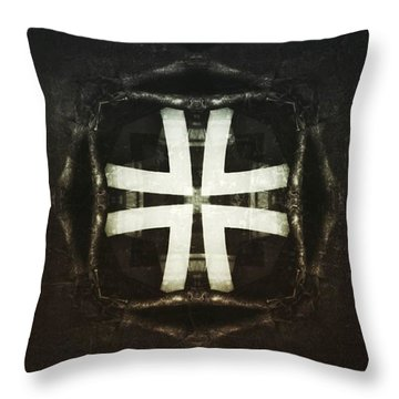 Empty Flower Throw Pillow