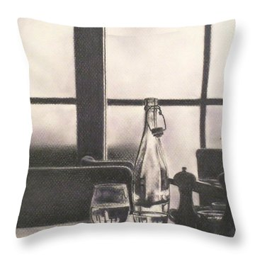 Empty Glass Throw Pillow