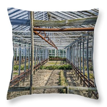 Empty Greenhouse Throw Pillow