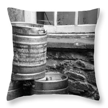 Empty In Edinburgh Throw Pillow by Amy Fearn