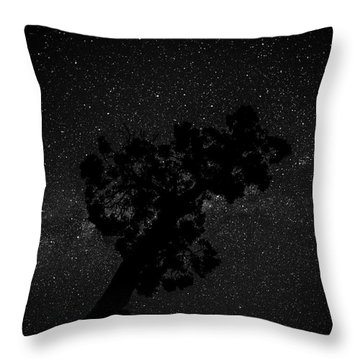 Empty Night Tree Throw Pillow