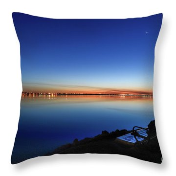 Empty Seat Watching The Moon Throw Pillow
