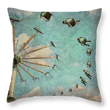 Empty Seats Throw Pillow by Tara Turner