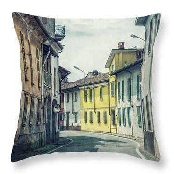 Empty Streets Throw Pillow