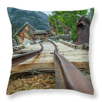 Empty Tracks Throw Pillow