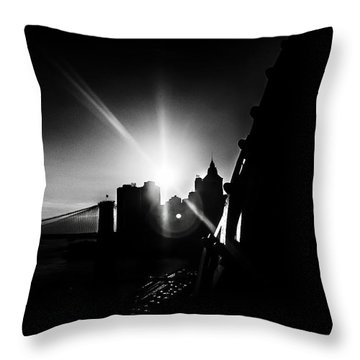 Empty Void Throw Pillow