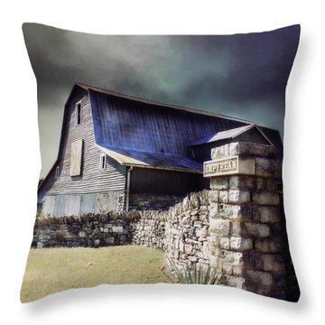 Empyrean Estate Stone Wall Throw Pillow