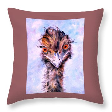 Emu Eyes Throw Pillow