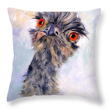 Emu Twister Throw Pillow