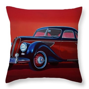 Emw Bmw 1951 Painting Throw Pillow