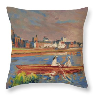 En Bateau De Renoir Sur La Meuse A Maestricht Throw Pillow