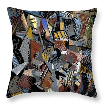 Throw Pillow featuring the digital art En-cas-de-nuit by Clyde Semler