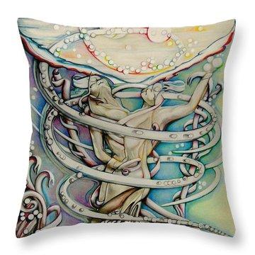En L'air Par Terre Throw Pillow