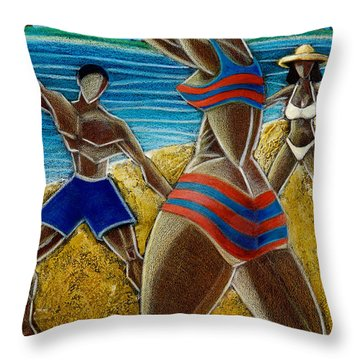 En Luquillo Se Goza Throw Pillow