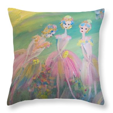 En Plein Air Ballet Throw Pillow