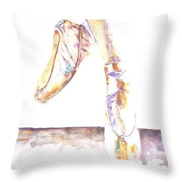 En Pointe Throw Pillow