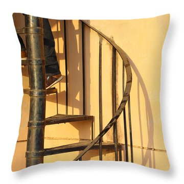 En Route Throw Pillow by Prakash Ghai